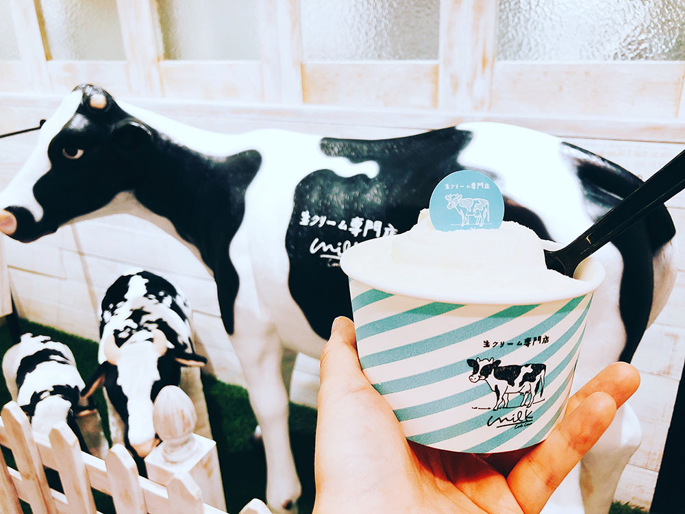 関西初上陸!生クリーム専門店 milk シフォンケーキやパフェ・ソフトクリームがおすすめ
